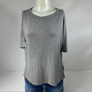 Caution To The Wind Basic Gray Short Sleeve S